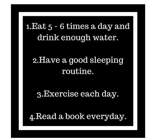 Four self improvement task. #1